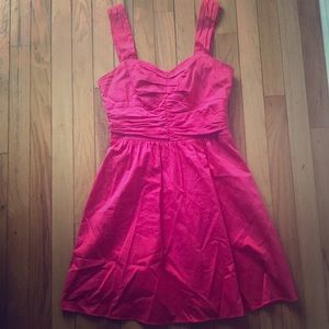 Express mini coral sweetheart neckline dress
